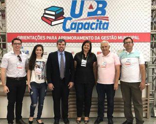 Prefeita e equipe participa do UPB Capacita